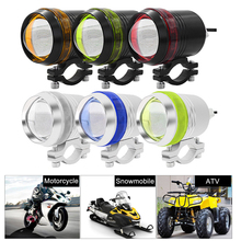 цены 1 Or 2PCS x 3 mode 3000LM Motorcycle LED Waterproof Driving Headlight Spot Fog Light Lamp