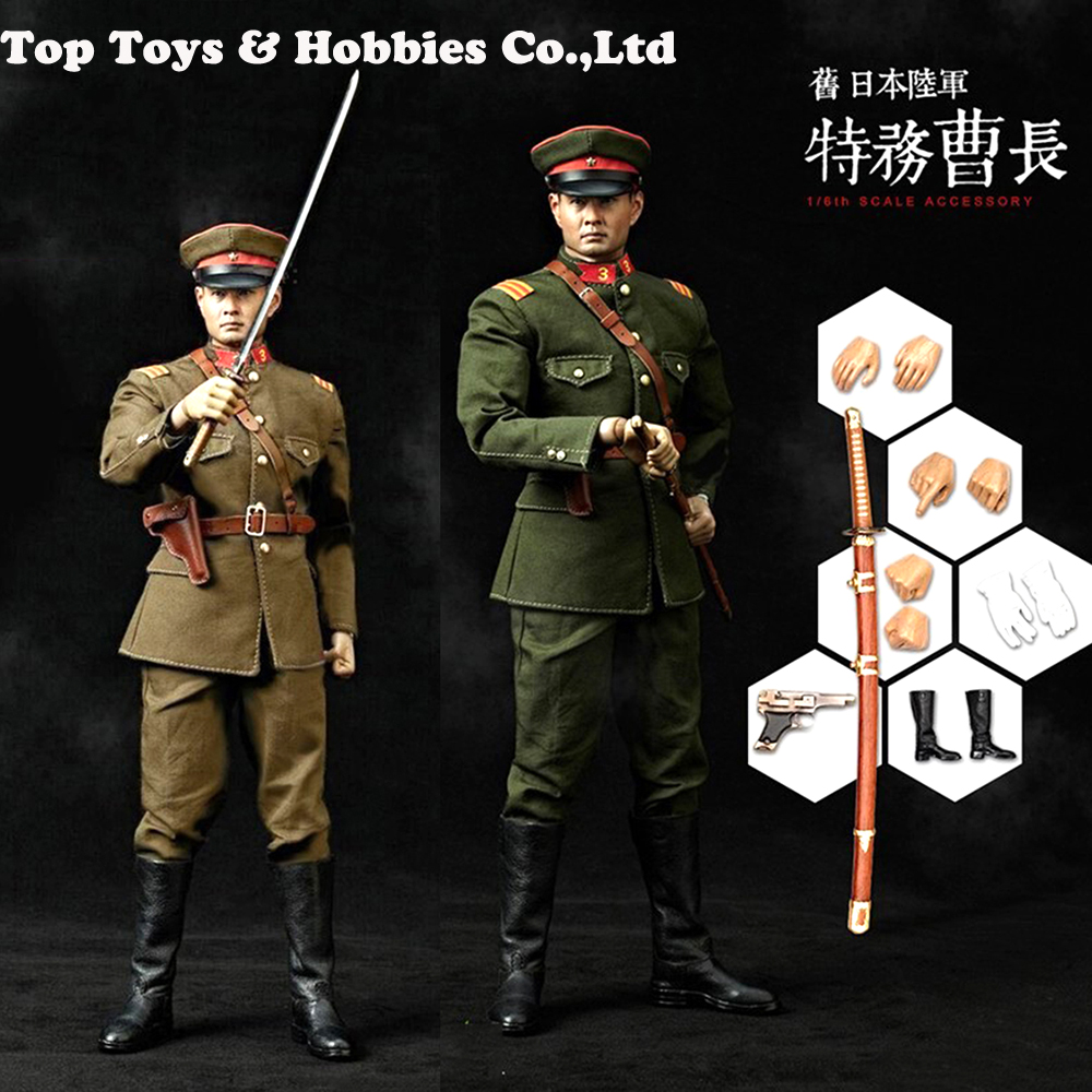 IN Stock CT010 Full Set 1/6 Former Japanese Army Sergeant of Spyorgnization Cao Chang Action Figure Model Green/Yellow Version