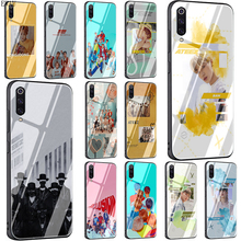 EWAU ATEEZ HongJoong SeongHWA Tempered Glass phone case for