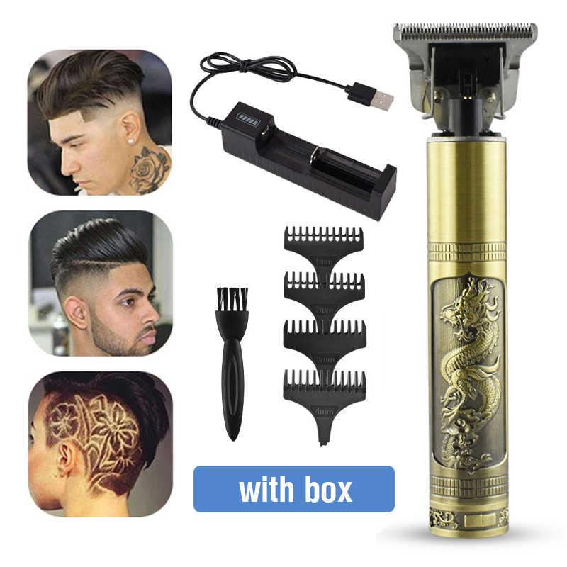 電気バリカンヘアトリマー理髪散髪usb充電式ひげの男性コードレス毛切断機