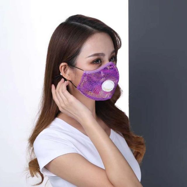 Kids Adult  PM2.5 Washable Cotton Mouth Masks Respirator Mask With Breathing Valve 3