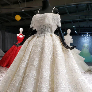 Image 3 - HTL916 ลูกไม้ชุดเดรสเจ้าสาวพิเศษเรือคอปิดไหล่ Ball gowns แต่งงานใหม่ vestido de noiva PLUS ขนาด
