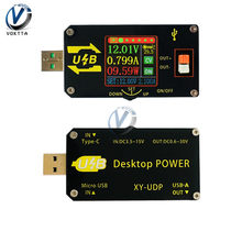 Convertidor de XY-UDP USB Digital DC-DC, módulo de alimentación de escritorio ajustable, CC, CV, 0,6-30V, 5V, 9V, 12V, 24V, 2A