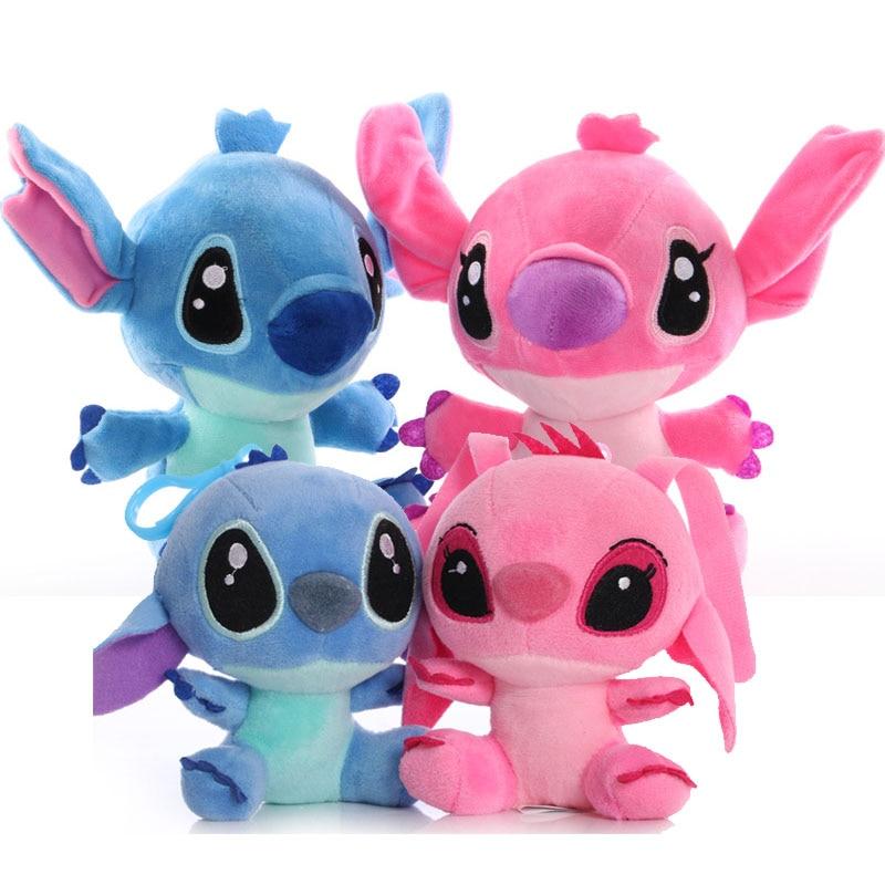 Nowy 10cm/20cm cartoon anime Lilo Stitch pluszowe zabawki śliczne miękkie Stitch wypchana zabawka prezenty dla dzieci
