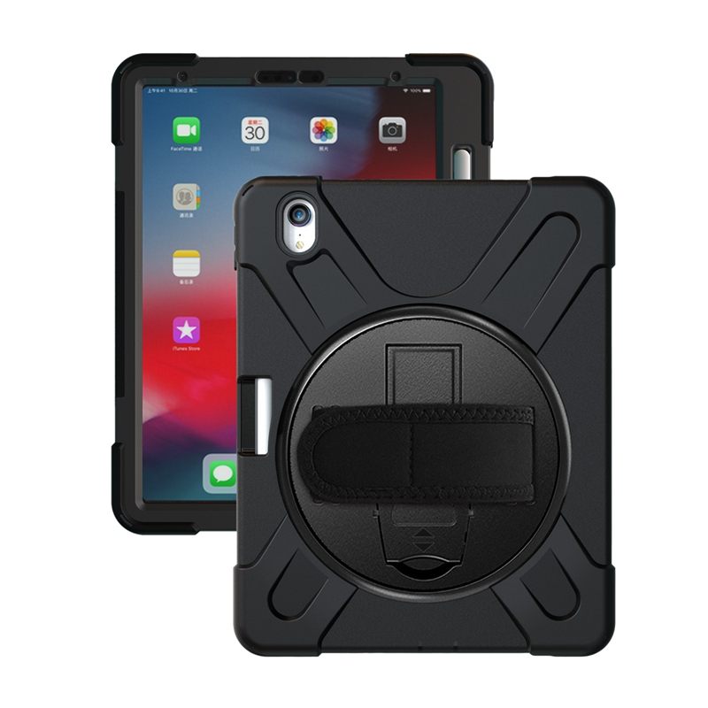 Funda protectora resistente a los golpes para iPad Pro 11 pulgadas 2018 con portalápices/soporte/correa de mano/correa de hombro