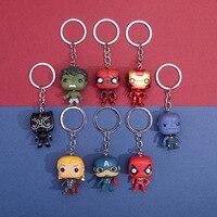 Anime Die Avengers Figur Iron Man Spiderman Captain America Thor Keychain Spielzeug Für Kinder Schul Anhänger Schlüssel Ring Geschenk Spielzeug