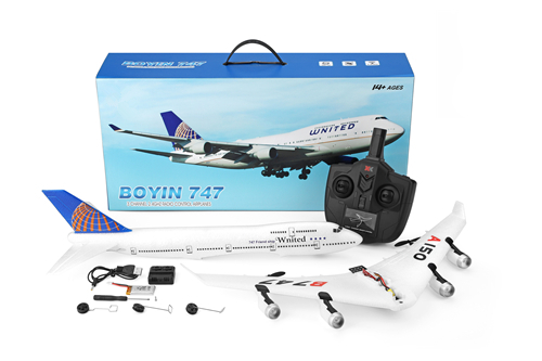 Original WLtoys A150 3CH RC Airplane Boeing B747 Model Fixed Wing EPP Remote Control Aircraft Toy XKA150-B747 image