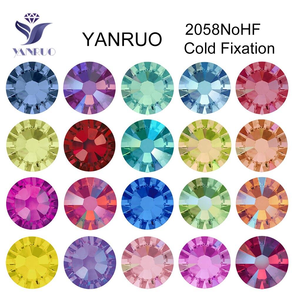 YANRUO 2058 Топ Б ез исправлений с плоской задней частью Стразы Стекло DIY холодной фиксации, украшение для ногтей, камни и кристалл страз ремесла