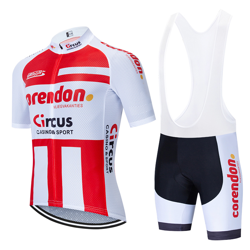 TEAM 2020 White corendon cycling jersey 20D bike short wear Ropa Ciclismo MEN summer quick dry BICYCLING Maillot bottom clothing|Cycling Sets| |  - title=