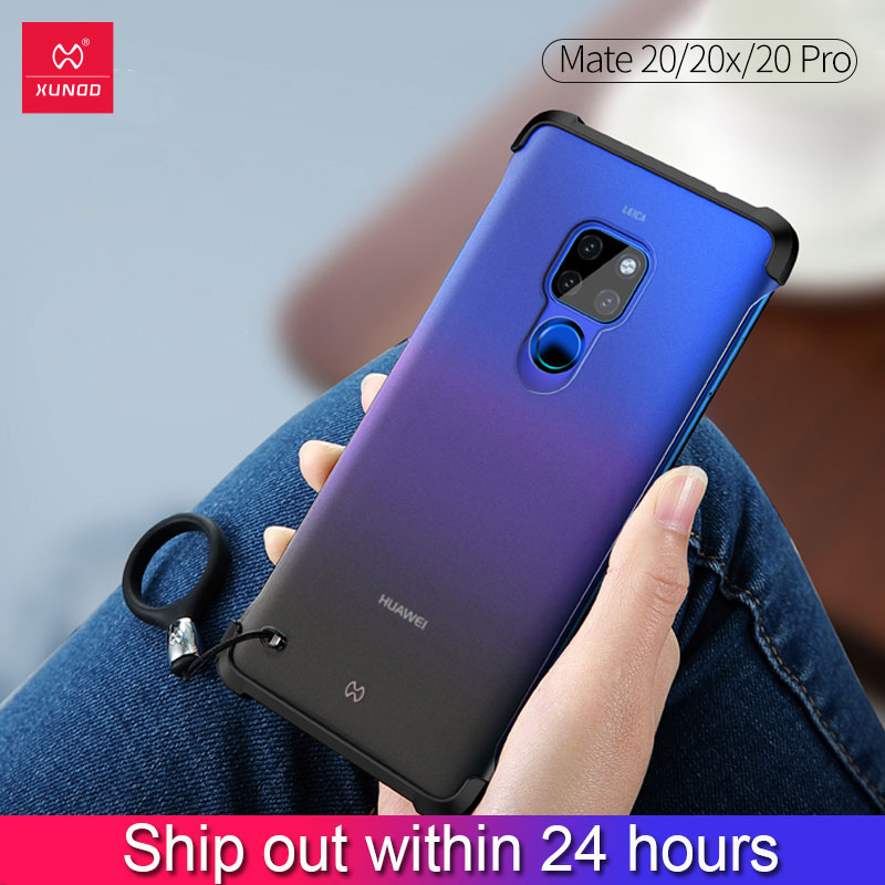 Xundd Case For <font><b>Huawei</b></font> <font><b>Mate</b></font> <font><b>20</b></font> <font><b>Pro</b></font> X lite Shockproof Phone <font><b>Cover</b></font> Soft Airbag Bumper <font><b>Cover</b></font> Matte Frosted Cute Colorful Phone Case image