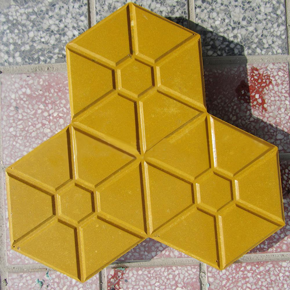 Outdoor Courtyard Garden Stone Road Walk Maker DIY Manually Path Paving Maker Flower Mold Imitation Brick Carving Pavement Tool