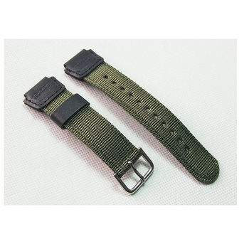цена на 18mm green black nylon Watch Band Strap Fit for Casio G Shock W-S200H W-800H W-216H W-735H F-108WH W-215 AEQ-110W
