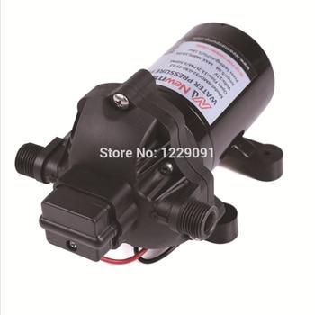 DC mini yacht water pump12v 24v dc booster pump diaphragm pump  3-cavity pump pressure switch