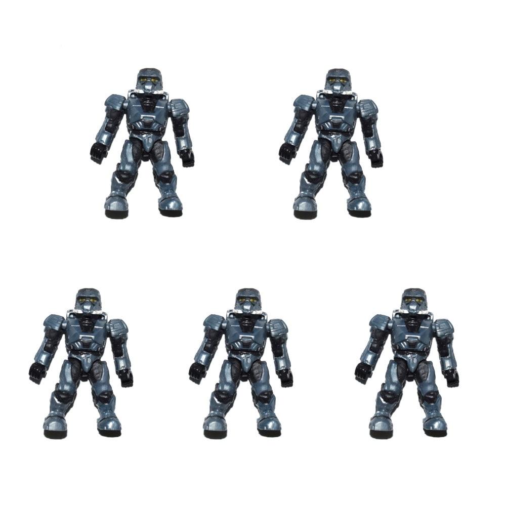 HALO MEGA BLOKS STEEL COVERT OPS UNSC SPARTAN Grey Mini Figure
