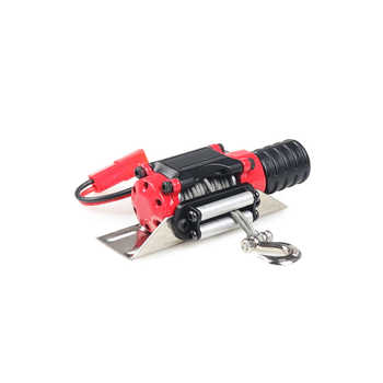 Automatic Winch Red and Wireless Remote Controller Receiver for 1/10 RC Crawler Car Axial SCX10 Traxxas TRX4 D90 KM2 TF2 Tamiya
