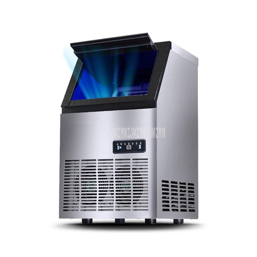 Machine à glaçons électrique automatique de forme carrée de 70 kg/jour Blu ray désinfectent le glaçon faisant la Machine pour la HZB 60 de magasin de barre de café de thé de lait