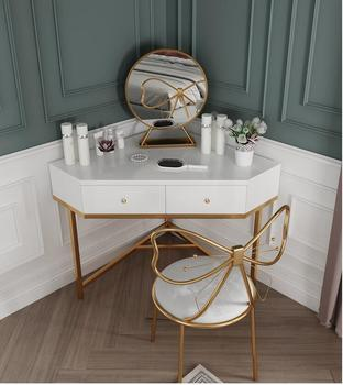 Nordic dressing table bedroom small apartment modern minimalist light luxury corner makeup table net red dressing table northern europe light luxury style dressing table bedroom modern simple dressing table small family european style dressing tabl