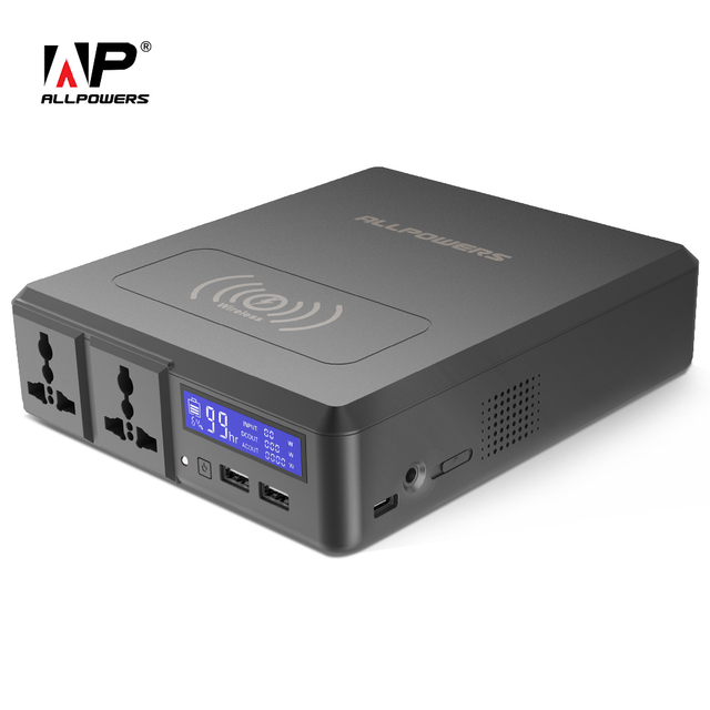 ALLPOWERS Power Bank 154W 41600mAh Two 110V AC Outlets External Battery Charger for iPhone Samsung MacBook Lenovo Acer ASUS etc.