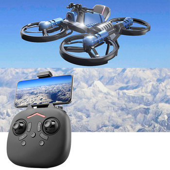 2.4G Mini RC Drone Toy Four-Axis Headless Mode Drones Deformation Motorcycle Folding Remote Control Drone Kids Quadcopter Toys