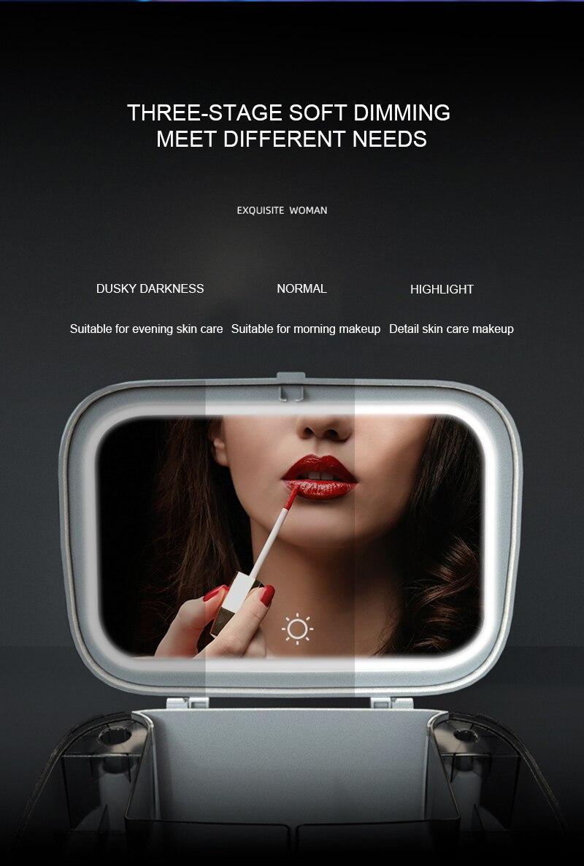 LED Light Makeup Storage Box