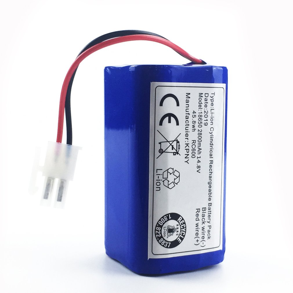 14.8V 2800mAh Robot Vacuum Cleaner Battery Pack Replacement For Chuwi Ilife V7 V7S Pro Robotic Sweeper 1PCS