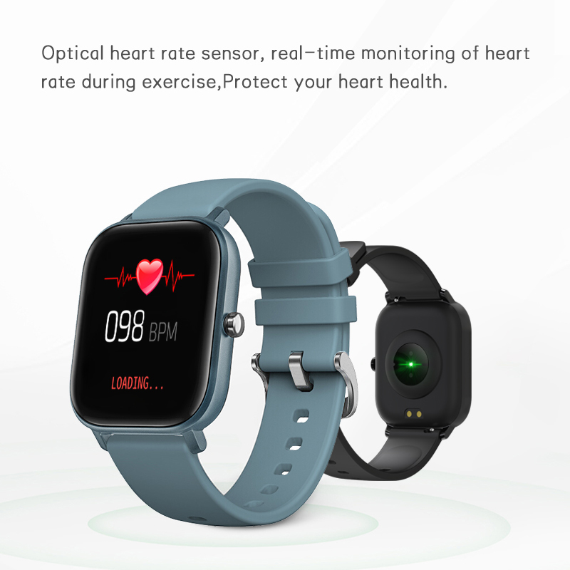 SENBONO 2020 P8 Smart Watch Men Women Sport IP67 Waterproof Clock Heart Rate Blood Pressure Monitor Smartwatch for IOS Android