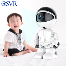 Wifi Camera Baby-Phone YCC365 Home-Security Tracking Wireless 1080P Robot Auto White