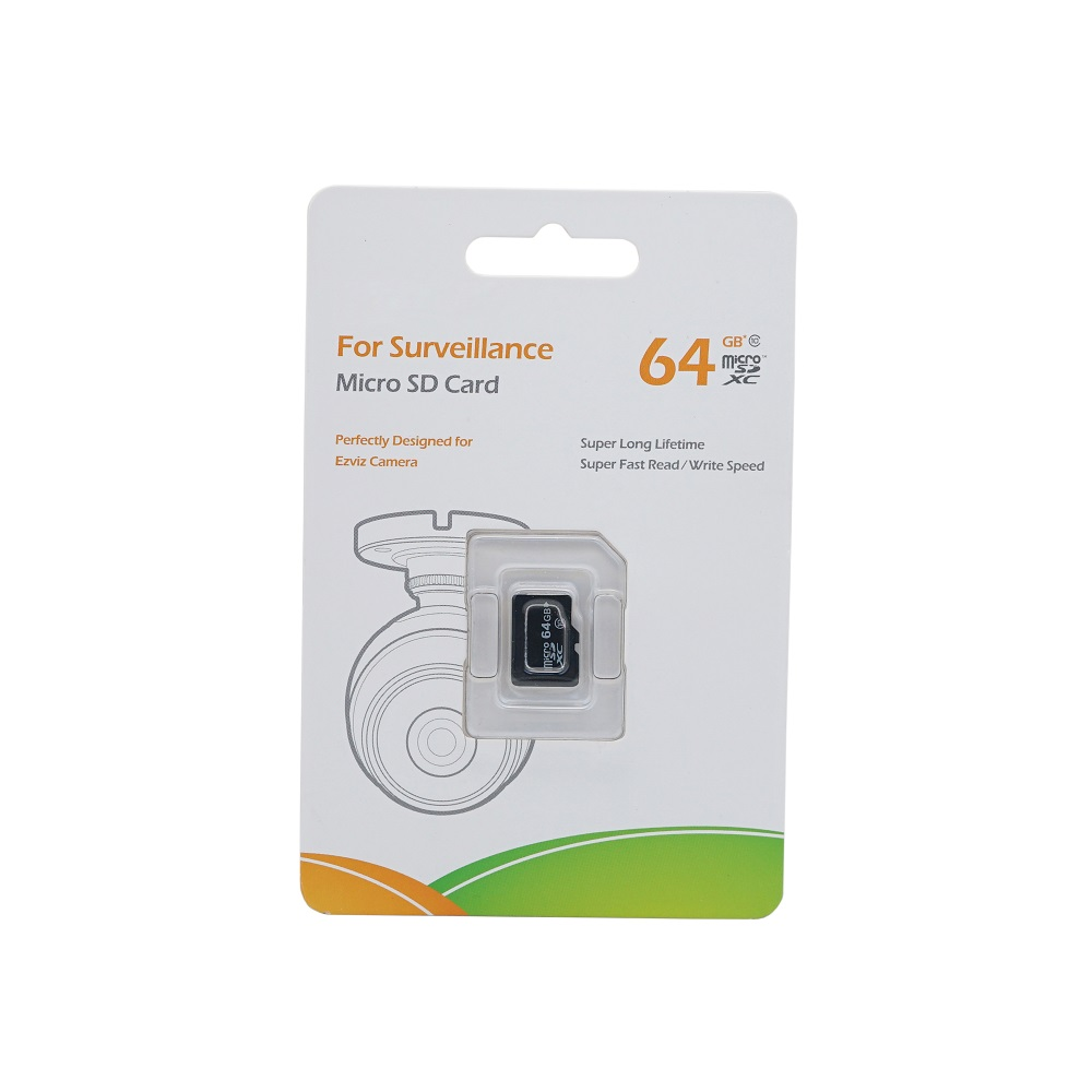 Original EZVIZ 64GB Class 10 Micro SD Card , TF Card For Surveillance, Perfectly Designed For HIK EZ Camera