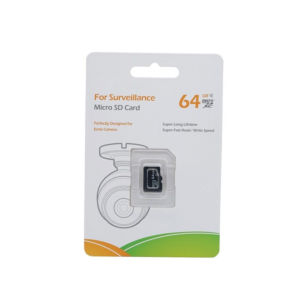 Original EZVIZ 64GB Class 10 Micro SD Card , TF Card For Surveillance, Perfectly Designed For HIK EZ Camera