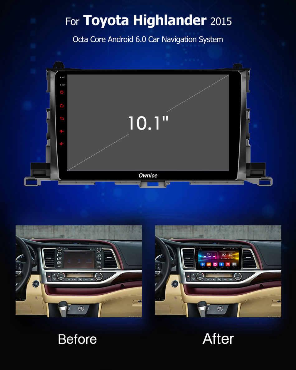 Ownice Android9.0 車のラジオ DVD プレーヤー 4 グラム 64 グラム大画面 HD GPS ナビオクタコア 4 4G LTE DSP 用光学トヨタハイランダー 2015