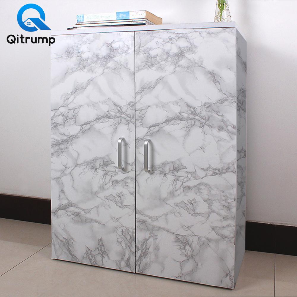 Waterproof Oil-proof Marble Wallpaper Contact Paper Wall Stickers PVC Self Adhesive Bathroom Kitchen Countertop Home Improvement 2