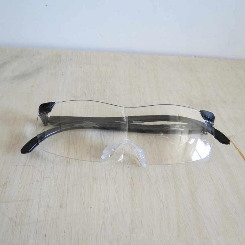 250 graus lupa óculos presbiopia lupa lupa óculos de lupa moda portátil óculos lupa