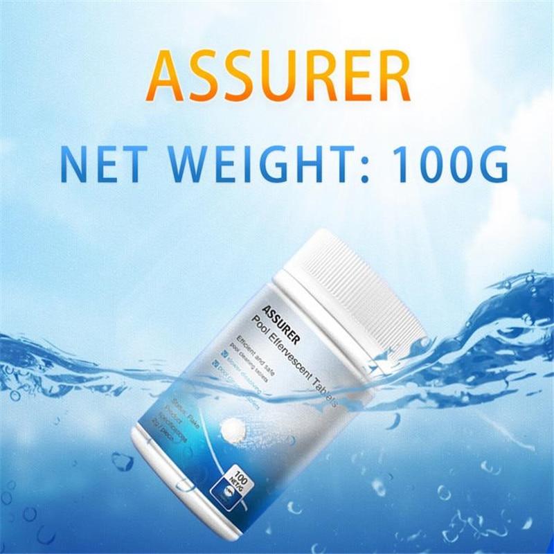 Pool Cleaning Tablet(100 Tablets) & Floating Chlorine Hot Tub Chemical Dispenser Effervescent Tablets