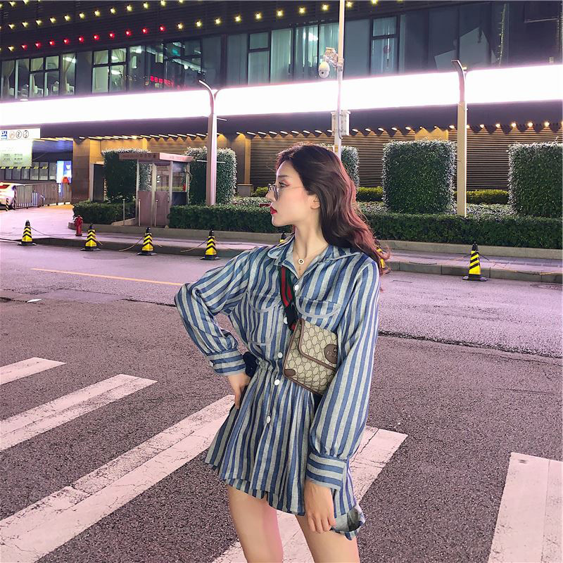 Street Snap Hong Kong Style Hipster Two-Piece Set Trousers Scheming Sense Of Design WOMEN'S Suit Western Style INS WOMEN'S Dress
