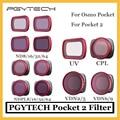 Оригинальный карманный фильтр PGYTECH Pocket 2/Osmo CPL UV ND8/16/32/64 NDPL8/16/32/64 для DJI osmo Pocket/pocket 2 аксессуары