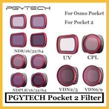 PGYTECH-filtro de bolsillo CPL UV ND8/16/32/64 NDPL8/16/32/64 para DJI Osmo Pocket 2, accesorios originales