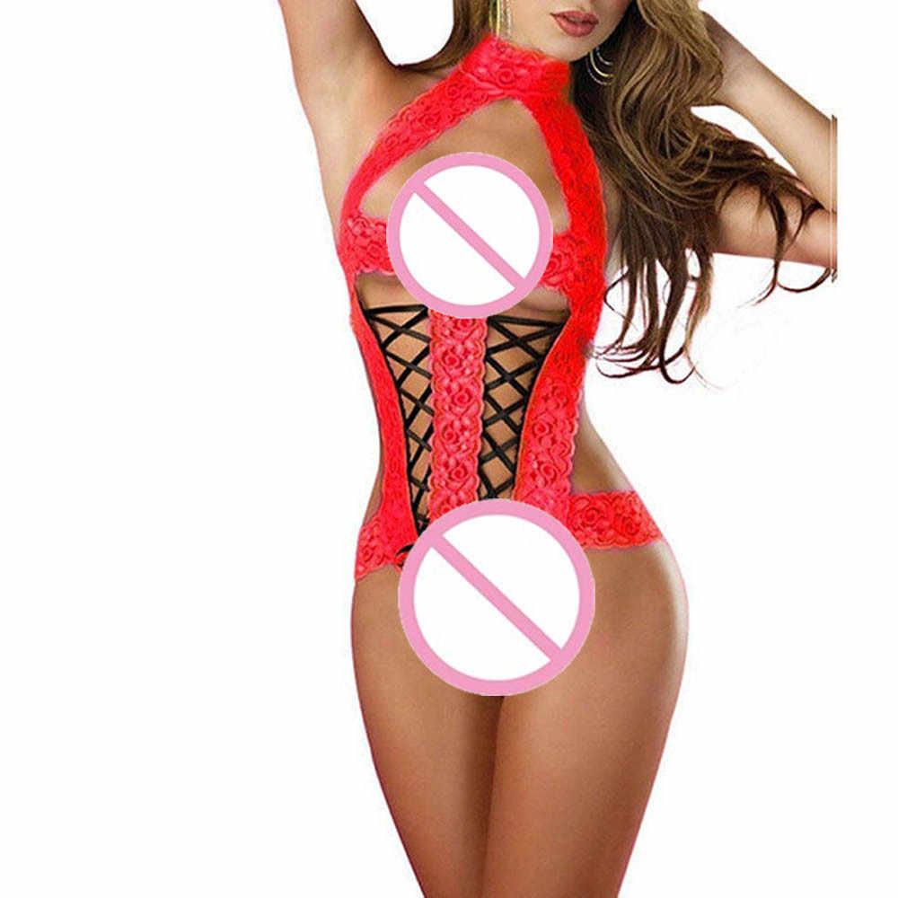 Moda Feminina Lace Racy Lingerie Macacão De Látex Sexy Arco Terno Temptation Underwear Homens Látex Catsuit Exotic Vestuário Lingerie @ 50