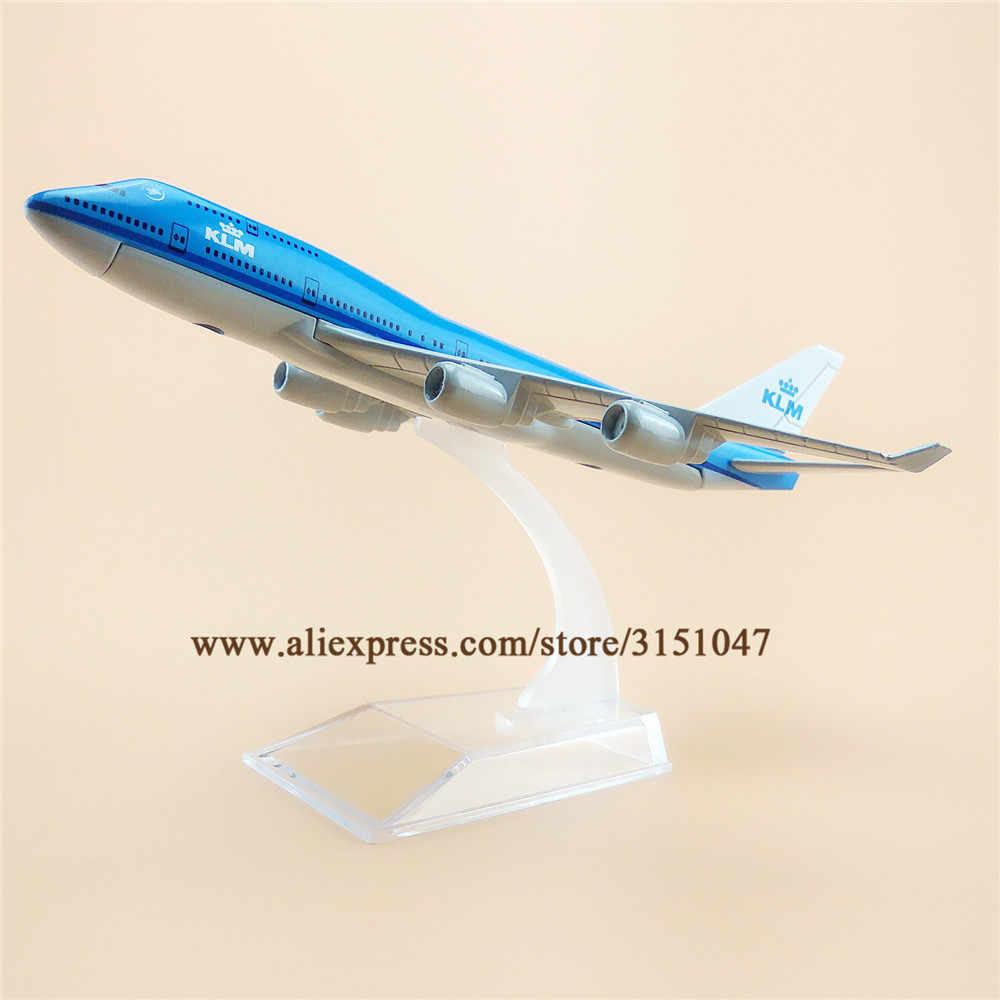 Avión aéreo holandés KLM Airlines Boeing 747 B747-400 Airways modelo aleación Metal modelo avión Diecast avión 16cm regalo