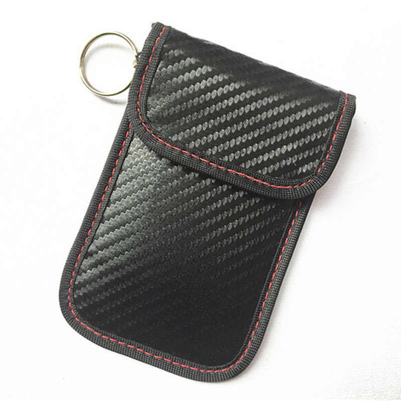Faraday Xe Từ Xa Chìa Khóa Túi RFID Tín Hiệu Chặn Thẻ Túi FOB Che Chắn Bảo Vệ Chìa Khóa Ví Dành Cho Bảo Vệ Quyền Riêng Tư BAG1058