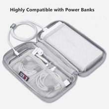 BUBM en çok satan koruyucu seyahat taşınabilir güç kaynağı kılıfı, harici sabit disk pil PowerBank saklama çantası için 20000mAh Romoss şarj cihazı