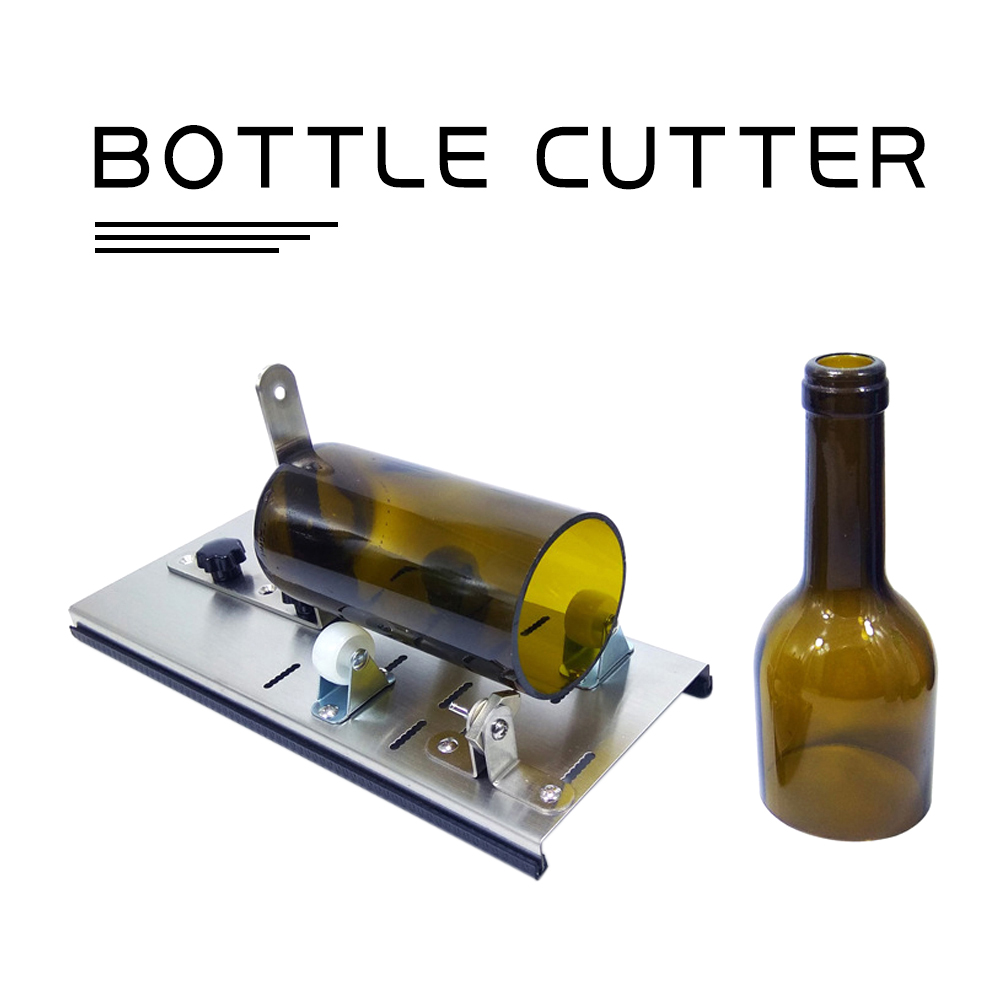Glass Bottle Cutter 3-Wheel Wire Cutting Thickness 2-12mm Stainless Steel Beer Wine Cutting Control Create Glass Sculptures