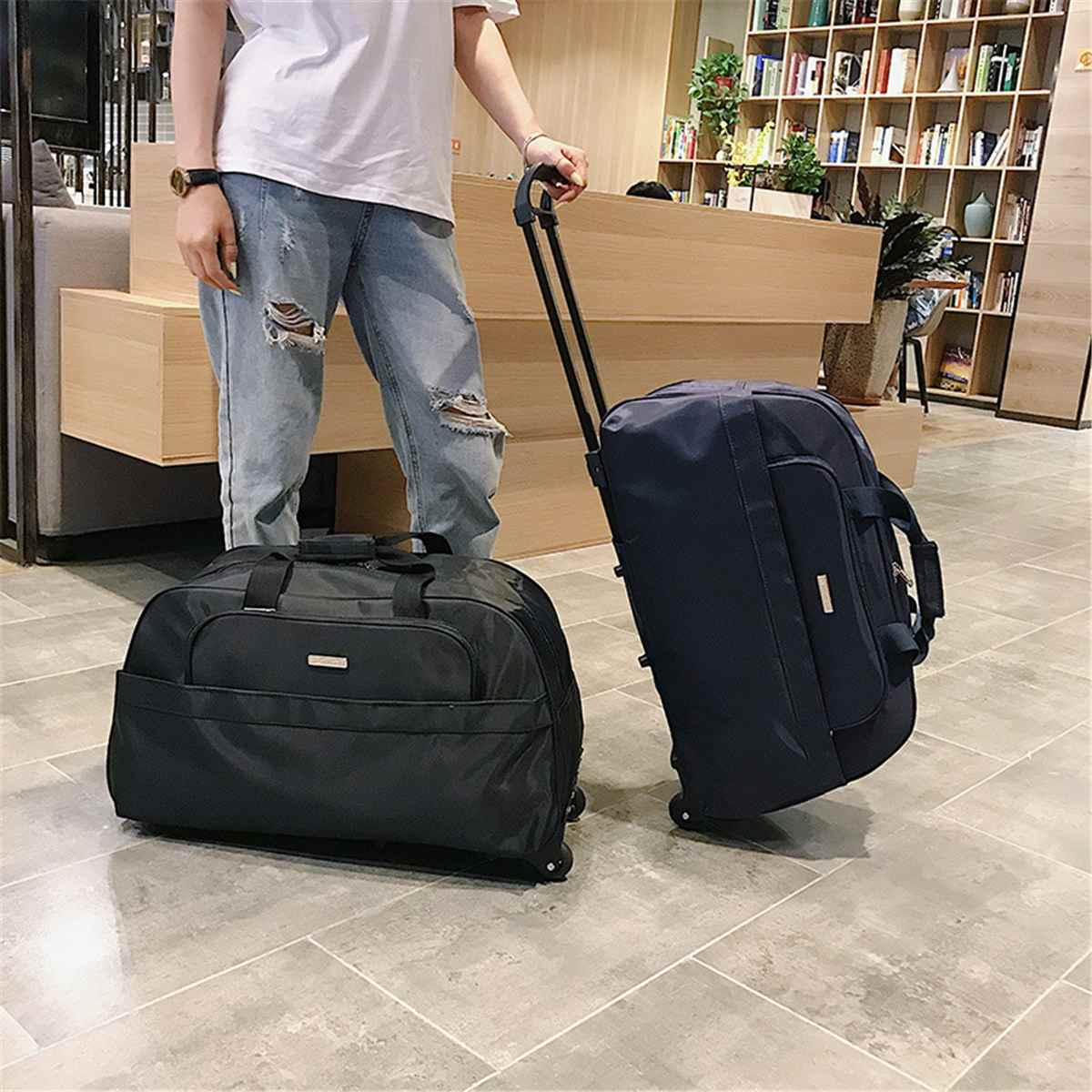 Color Luggage Bag New Fashion Travel Duffle Trolley Bag Rolling Suitcase Trolley Women Men Travel Bags With Wheel Carry-On Bag