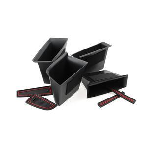 Image 5 - RUIYA 자동차 사이드 도어 스토리지 박스 For Mazda 3 4th/Mazda CX 30 2019 오른쪽 방향타 차량 도어 핸들 스토리지 액세서리 블랙