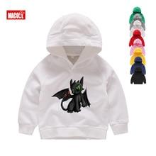Boys Girls How To Train Your Dragon Toothless Cartoon Print Hoodies Sweatshirts Kids Funny Winter White Long Sleeves