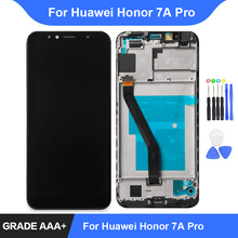 For Huawei Honor 7A Pro LCD Display Touch Screen Digitizer Assembly Repair Parts Honor 7C aum-l29 Display with Frame Replacement все цены