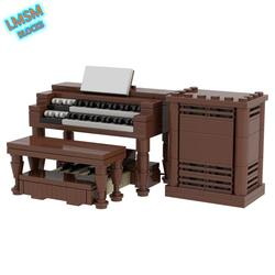 MOC Hammond B3 Building Blocks music piano instrument Bricks Creative B3 organ Model Leslie speakers Collection children's toys