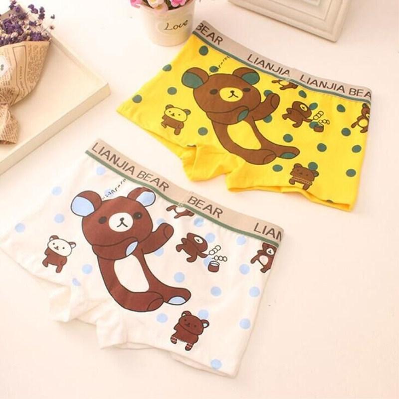 2Pc Cotton Boxer for Boys Cartoon Kids Children Underpants Panties 6