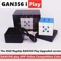 GAN356i Play 3x3x3 Magic cube GAN356 i play 3x3 Magnetic speed cube gans 3x3x3 cube Competition Cube GAN 356i puzzle cubo magico