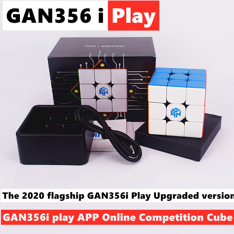 GAN356i Play 3x3x3 Magic cube GAN356 i play 3x3 Magnetic speed cube gans 3x3x3 cube Competition Cube GAN 356i puzzle cubo magico(China)