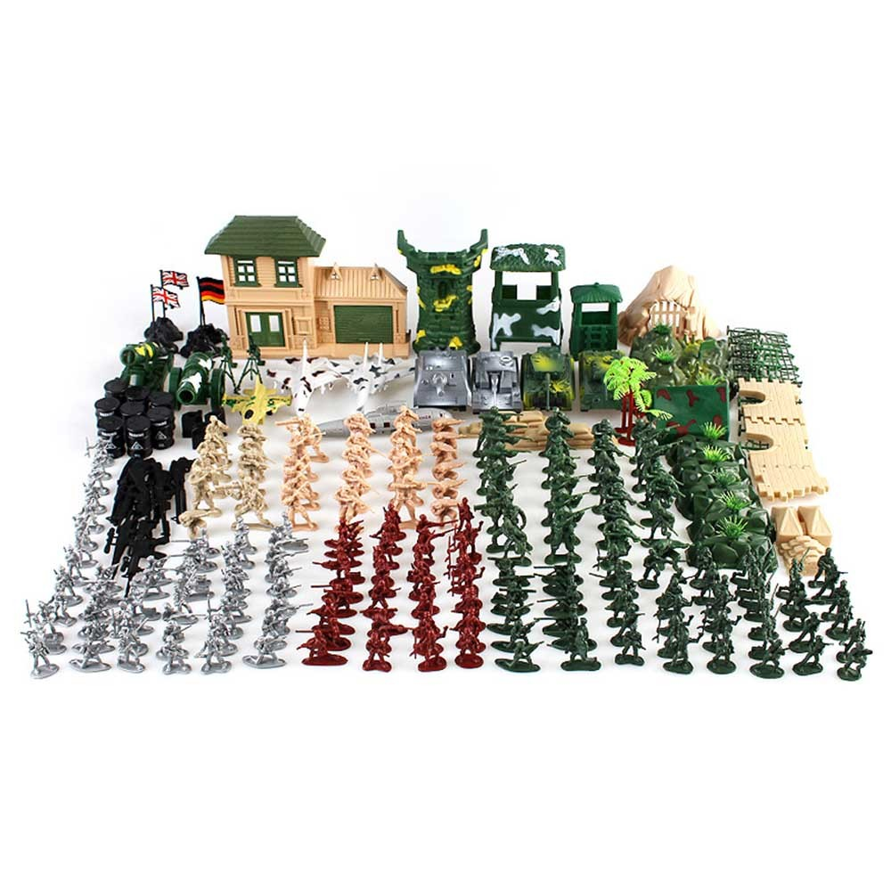 300 Pcs Military Soldier Playset Army Men Model Action Figures Toy Set